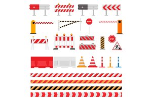Road barrier vector street traffic