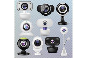 Web camera vector webcam digital