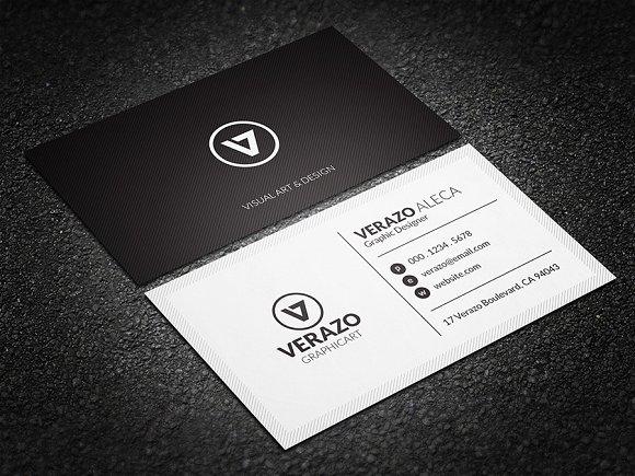 Minimal Black & White Business Card