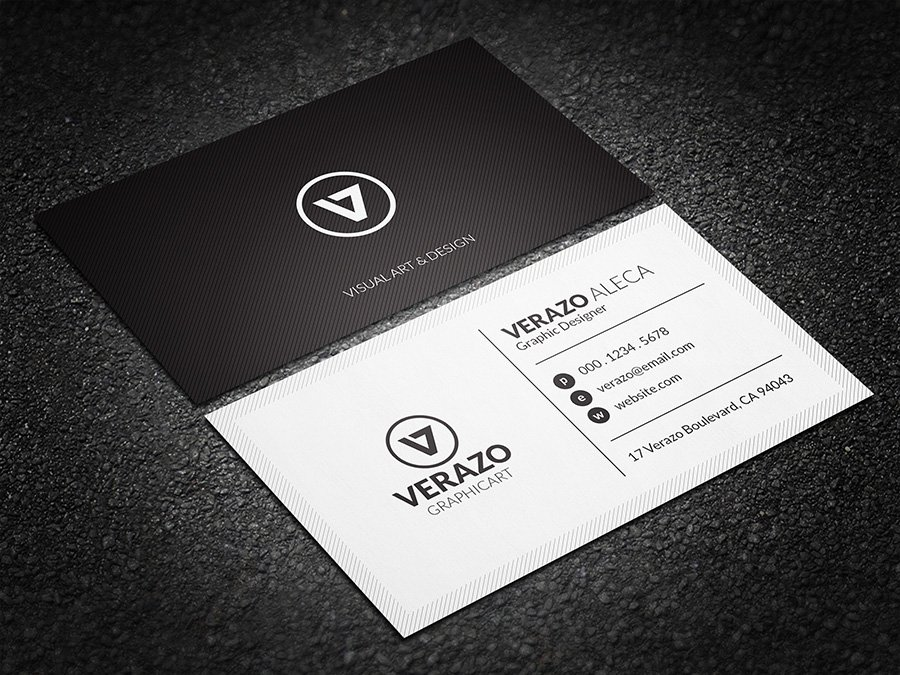 Minimal black white business card business card templates minimal black white business card business card templates creative market fbccfo Gallery