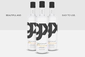 Beverage - Frosted  Bottle - Mockup