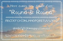 New doodle font. Round&round.