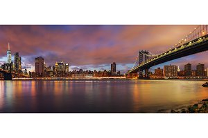 Manhattan bridge and Manhattan at