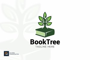 Book Tree - Logo Template