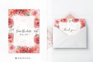 Floral vector BG, invitation 05