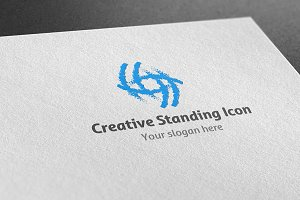 Creative Standing Icon Logo