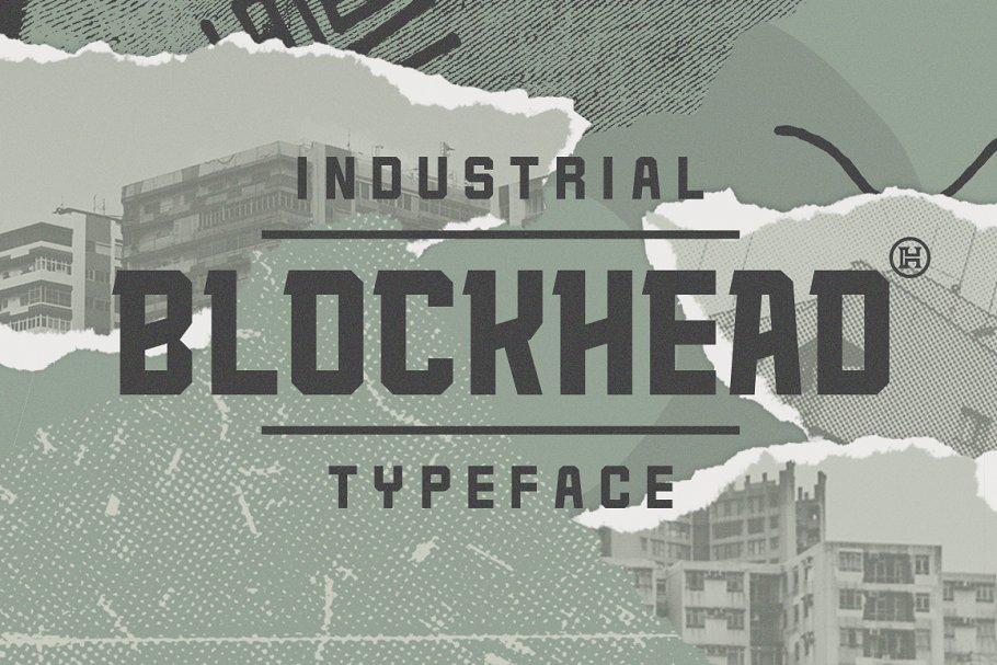 Blockhead Typeface | Font