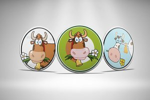 Badges Mockup Vol 3