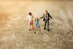 Happy Family Concept. Miniature