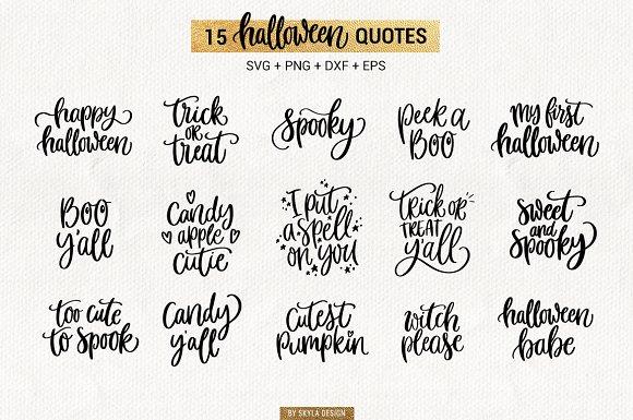 Halloween Quotes Svg.15 Halloween Quotes Svg Bundle