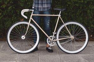 Fixie bike detail