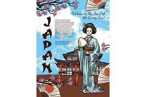 Japan travel symbols