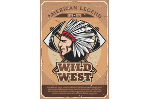 American Wild West Indian man