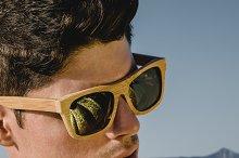Model man portrait with sunglasses