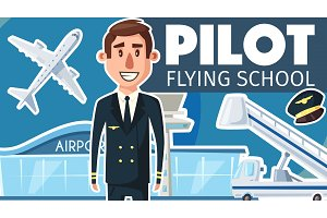 Pilot professional flying school