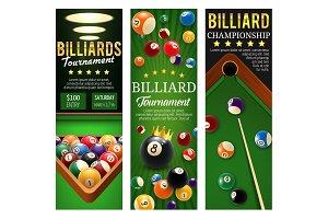 Billiards championship banners