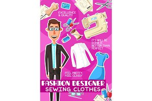 Fashion designer man profession