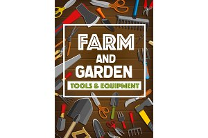 Farm and garden tools