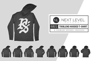 Next Level 6021 Triblend Hooded Tee