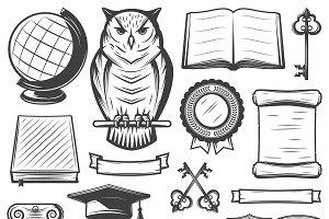 Vintage Academy Elements Set
