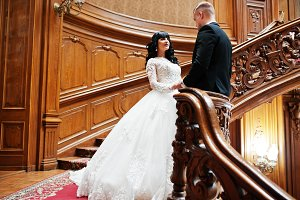 Elegance wedding couple in love at r