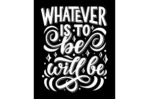 Vector lettering quote