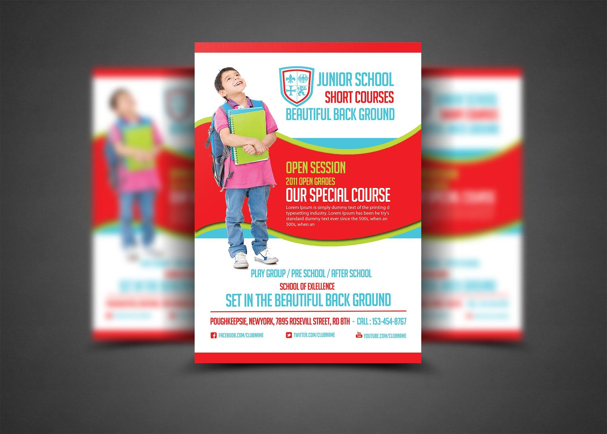 Education Flyer Print Templates Flyer Templates Creative Market - Print brochure templates