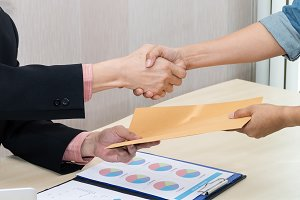 Business people handshake for succes