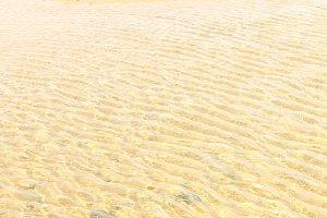 Sandy Beach under shallow sea water