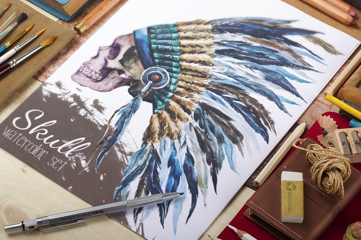 Native American Watercolor Hat Illustrations Creative Market Mystore365com Meter6013capacitancecapacitortesterincircuithtml