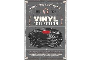 Vinyl records music shop