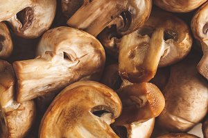 Baked champignons with soy sauce