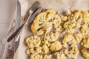 Baked cauliflower with rosemary