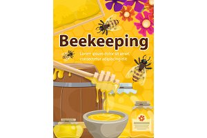 Beekeeping honey and bees