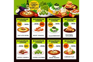 Bulgarian cuisine traditional dishes