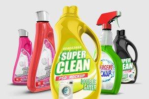 Laundry Detergent Bottle PSD Mockups