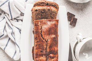 Homemade chocolate bread (cake)