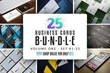 25 Business Cards Bundle - Vol  01