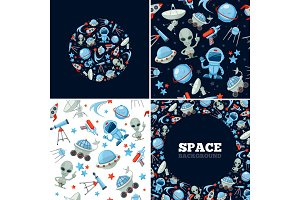 space symbols bundle. astronaut