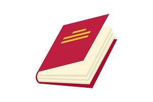 Vector book Icon. Books in various