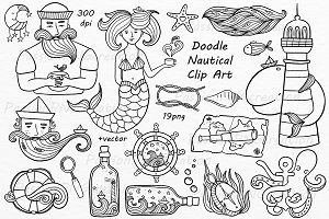 Doodle nautical clipart