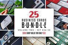 25 Business Cards Bundle - Vol 02
