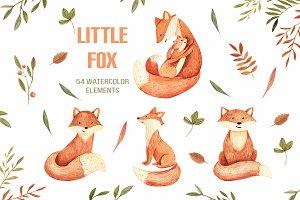 Watercolor Autumn Fox