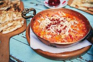 Traditional turkish food menemen