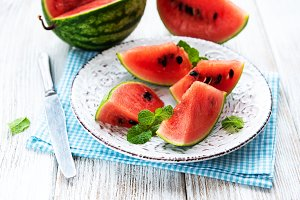 Plate with Watermelon