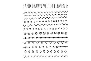 Hand Drawn vintage elements.