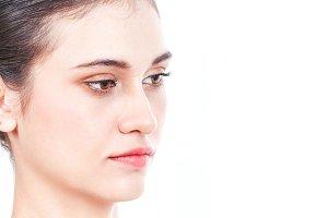 Beautiful face of woman