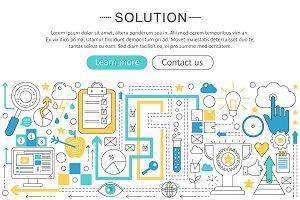 Solution web concept