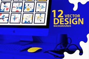 12 Vector abstract backgrounds