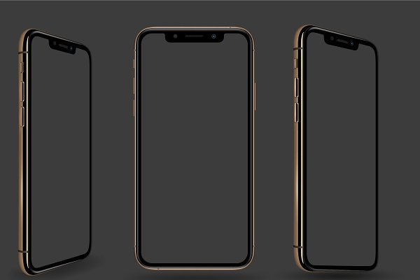 iPhone Xs Max vector mockup